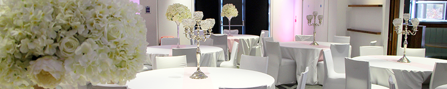 tables dressed for event